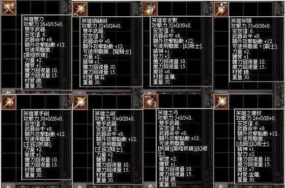 【英雄】系列武器   710
