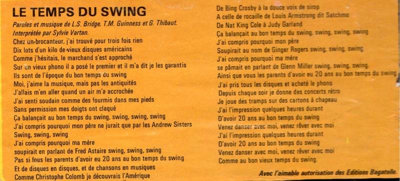 Discographie N° 66 LE TEMPS DU SWING Img17210
