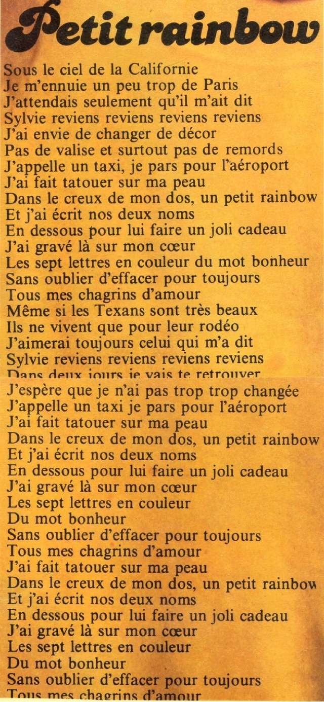Discographie N° 68 PETIT RAINBOW - Page 2 Img18410