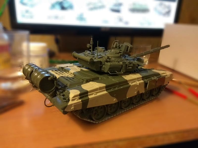 Т 90 (звезда) первая моя модель  2_t9011