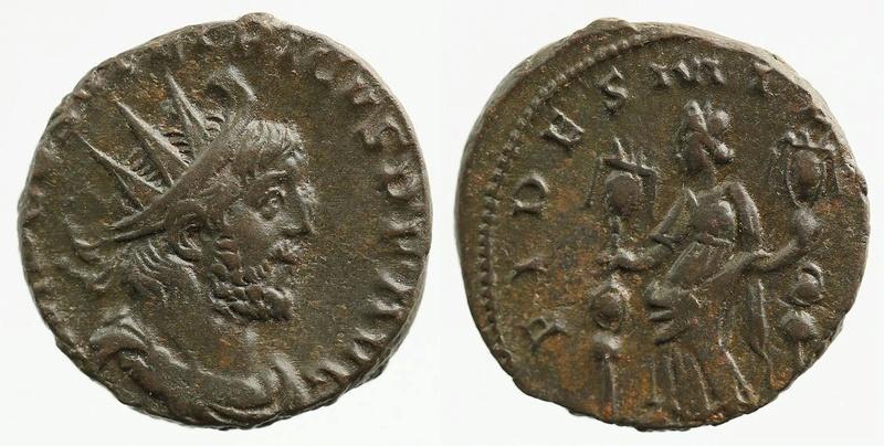 Tetricus Ier - association d'une titulature longue  au revers FIDES MILITVM inédit Tetric11