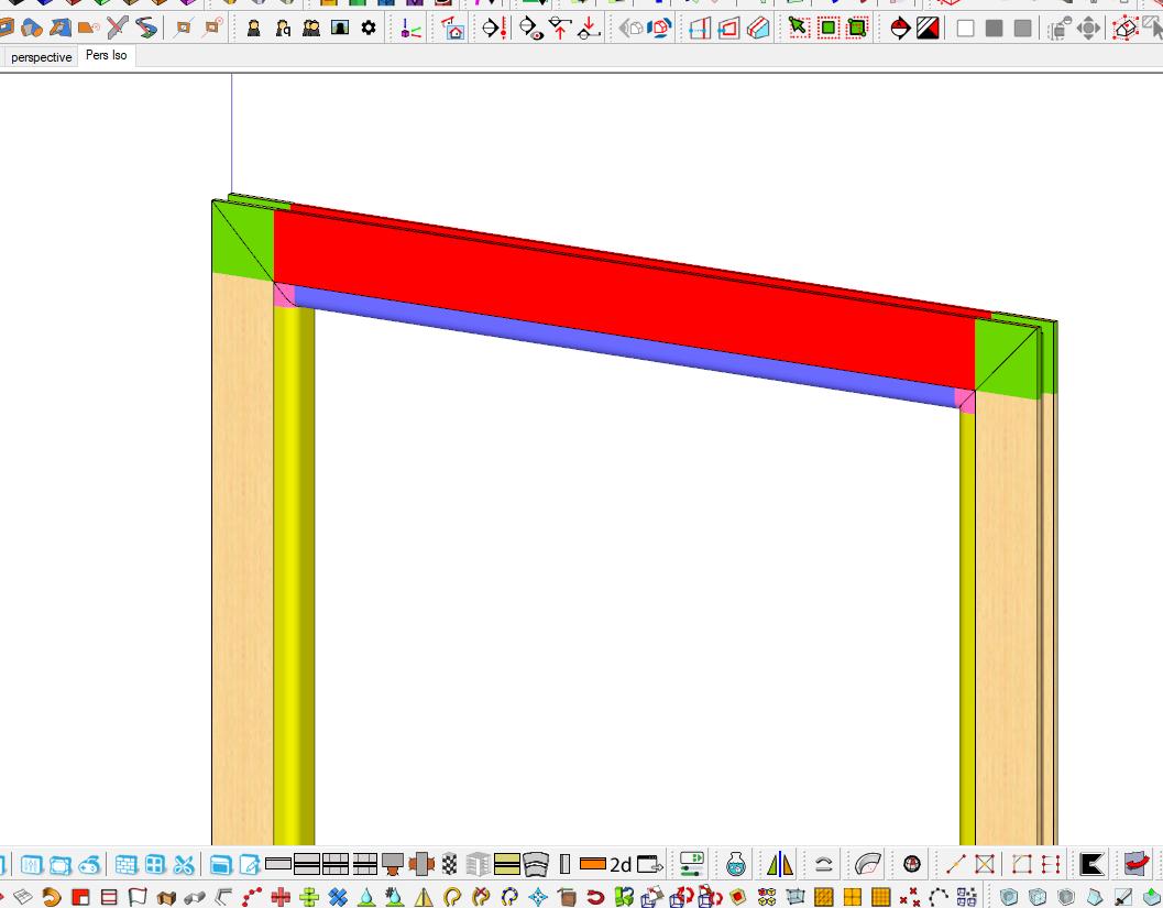 [ SKETCHUP composants dynamiques ] paramétrage composant dynamique coupe d'onglet Captu113