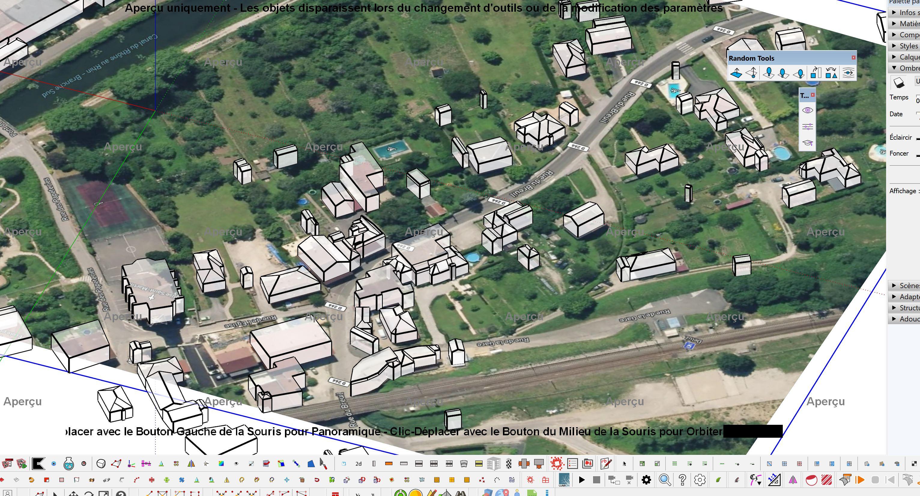 [AUTRES LOGICIELS ] Transformation Image google earth vers axonométrie ville Captu275