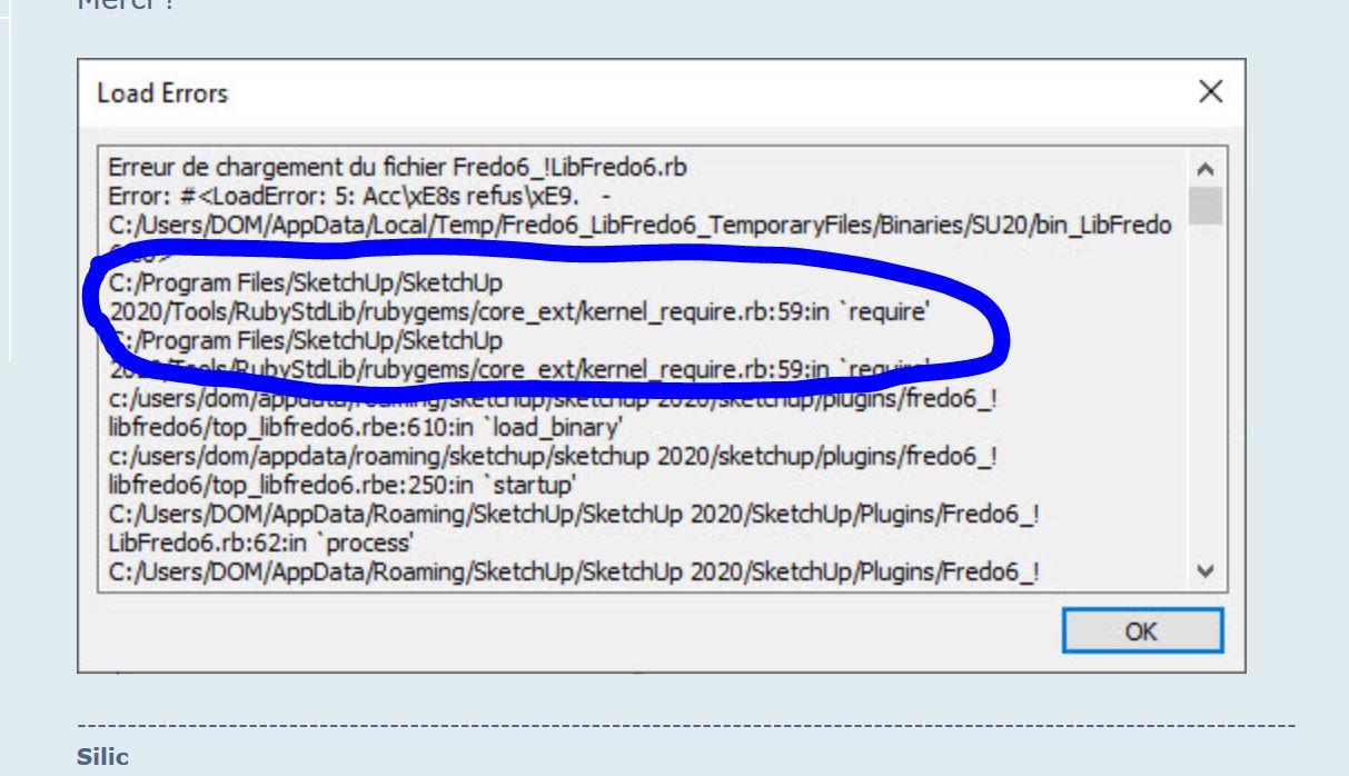 [ SKETCHUP généralité ] message d'erreur au démarrage Captu282