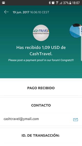 [PAGANDO] CASHTRAVEL - cashtravel.info - Refback 80% - Mínimo 0.05$ - Rec. pago 11 - Página 2 Pago0111
