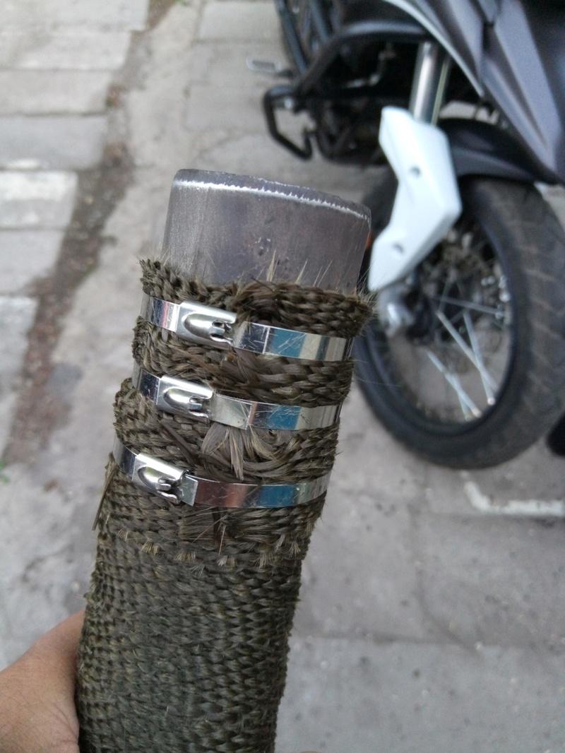 Обмотка колена термобинтом ZONGSHEN RX3 ZS250GY-3 P7052513
