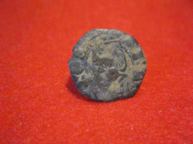 Dinero de vellón Jaime II de Aragón 1291-1327 Sariñena Mediev10