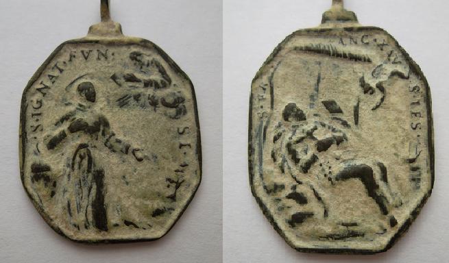 medalla S. Ignacio de Loyola / S. Francisco Javier S. XVII Dibujo13