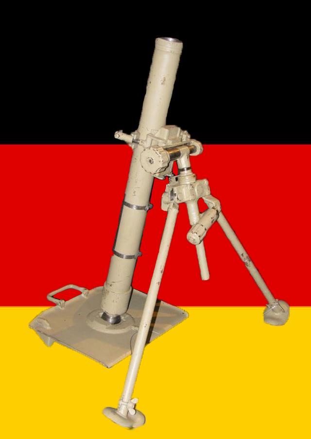 Mortier 80mm allemand (replique) Mortie11