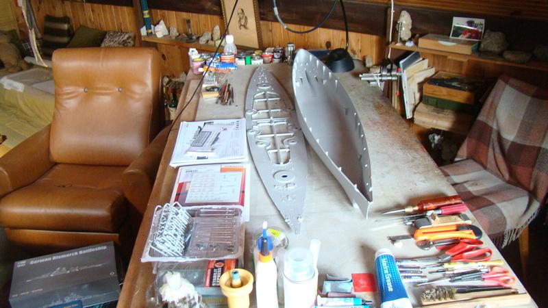 le nouveau chantier: le cuirassé Bismarck 1/200° Chanti10
