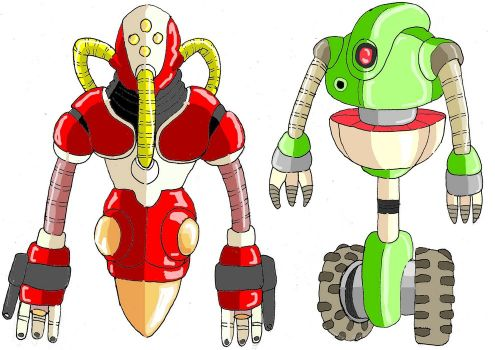 Le dur entraînement  (entraînement) Robots10
