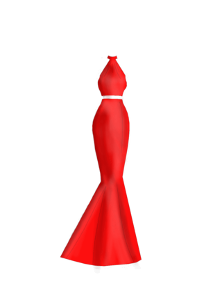 Red Trumpet Prom Dress Reddre10