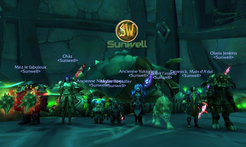 Sunwell -  Guilde évolutive [Hyjal-Alliance]