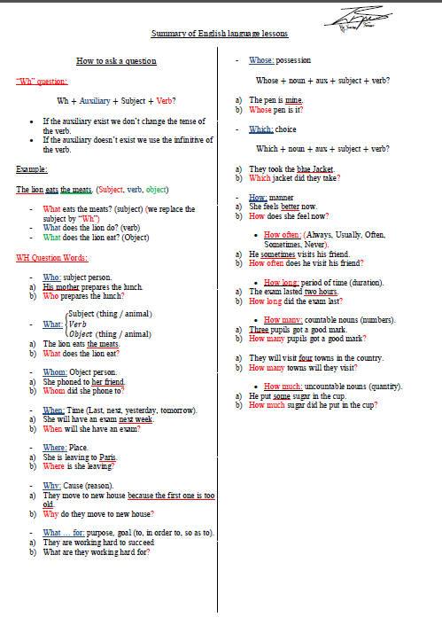 ملخص دروس اللغة الإنجليزية للسنة الثالثة ثانوي Bandi146
