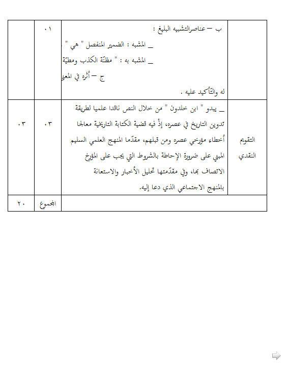 إختبار لغة عربية للفصل الأول 3 ثانوي آداب و فلسفة 3 مع الحل Bandi271