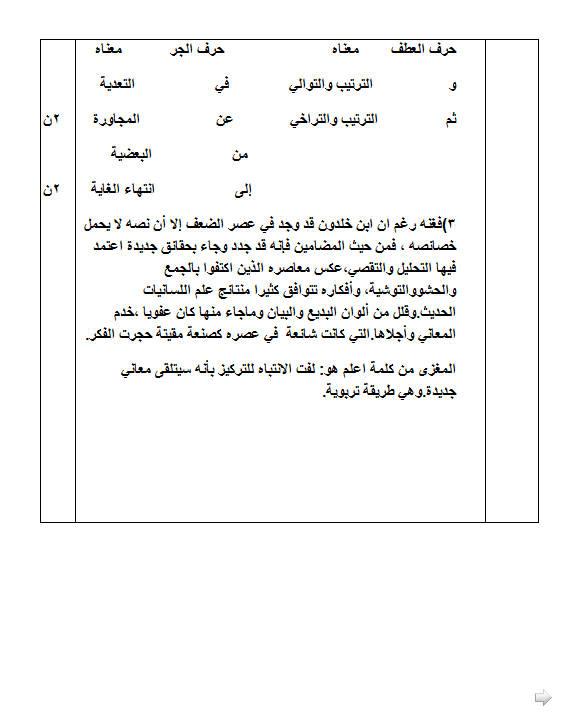 إختبار لغة عربية للفصل الأول 3 ثانوي آداب و فلسفة 4 مع الحل Bandi276