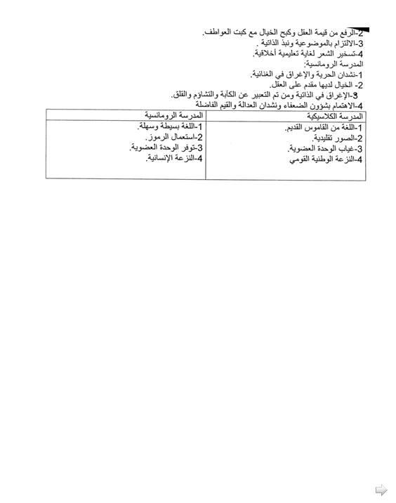 إختبار لغة عربية للفصل الثاني 3 ثانوي آداب و فلسفة 2 مع الحل Bandi339