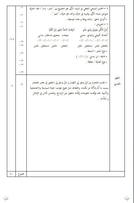 إختبار لغة عربية للثلاثي الأول 3 ثانوي لغات أجنبية 2 مع الحل Bandi411