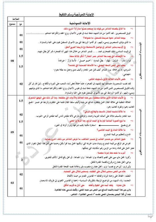 إختبار لغة عربية للثلاثي الأول 3 ثانوي لغات أجنبية 3 مع الحل Bandi414