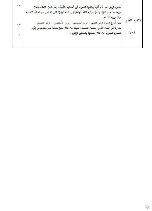 إختبار لغة عربية للثلاثي الثالث 3 ثانوي لغات أجنبية 1 مع الحل Bandi449