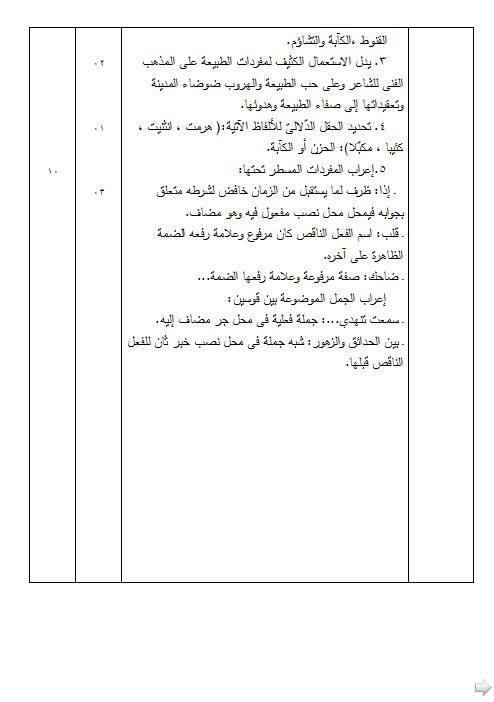 إختبار لغة عربية للفصل الأول 3 ثانوي شعب علمية 2 مع الحل Bandi472