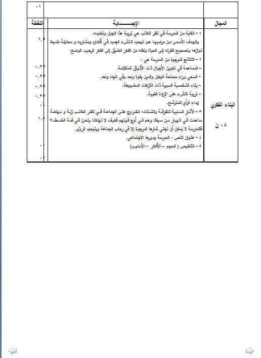 إختبار لغة عربية للثلاثي الثالث 3 ثانوي شعب علمية 2 مع الحل Bandi548