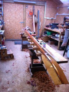 4.3m hollow all cedar outboard oar Finish11