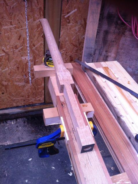 4.3m hollow all cedar outboard oar Oar_ha11