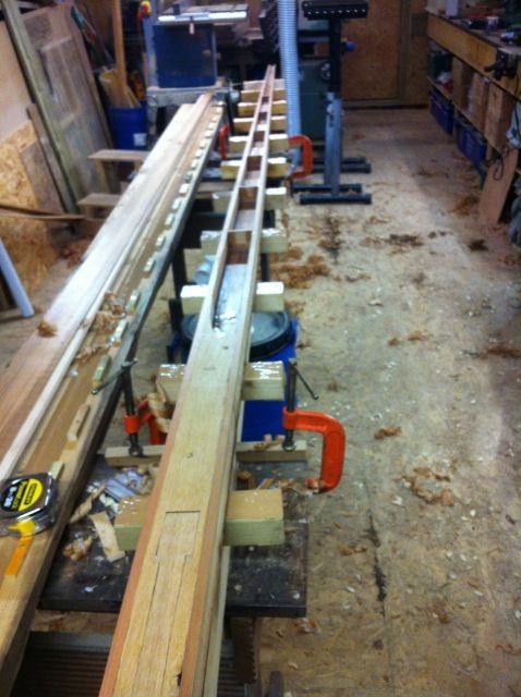 4.3m hollow all cedar outboard oar Wedged10