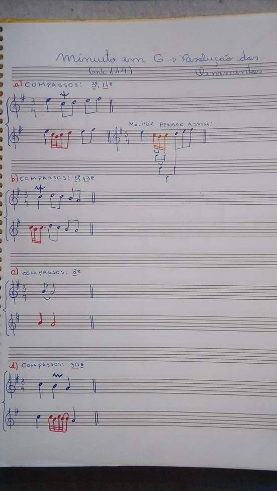 O pequeno álbum Anna Madalena Bach na Clave de Dó primeira linha e Clave de Fá na quarta linha / Analise dos Ornamentos Orname12