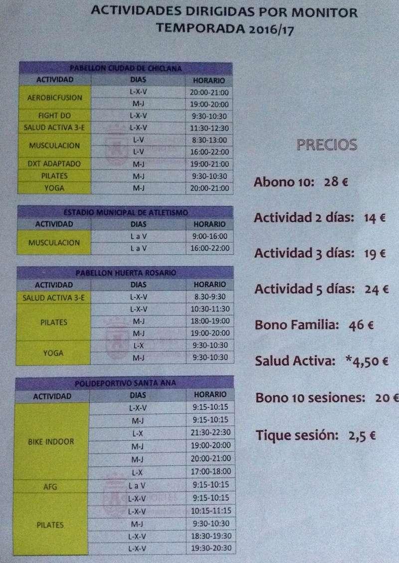 Relación de actividades deportivas y Gimnasio Girnas10