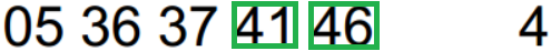 Desdobramentos de Chaves Aleatórias / Totoloto 4_214
