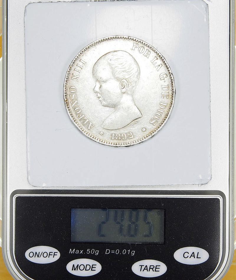 5 Pesetas 1892. Alfonso XIII. PGM 55492616