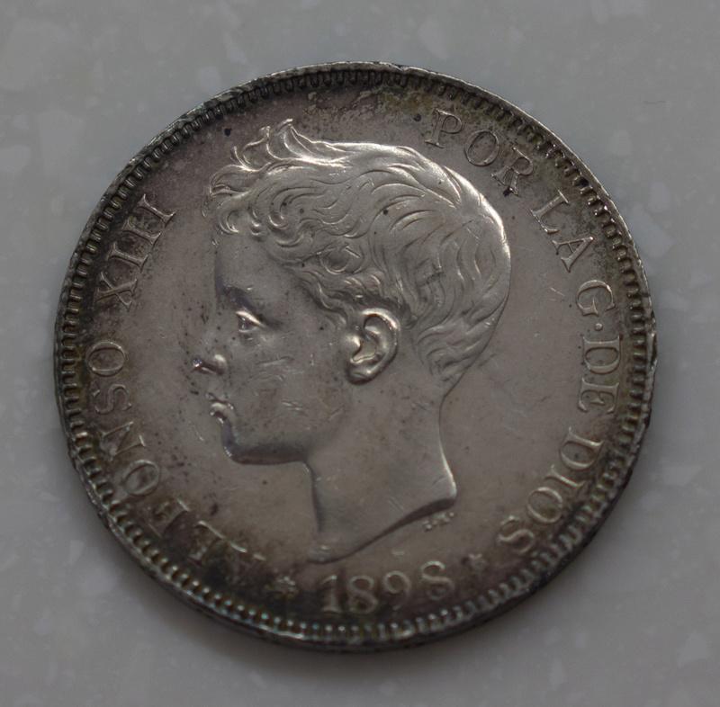 5 Pesetas 1898. Alfonso XIII. SGV Dsc03511