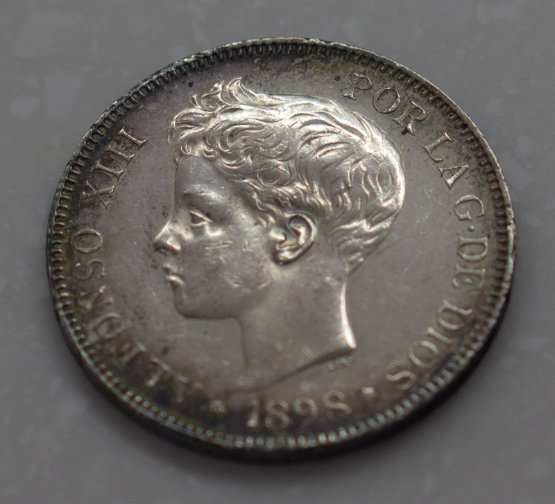 5 Pesetas 1898. Alfonso XIII. SGV Dsc03513