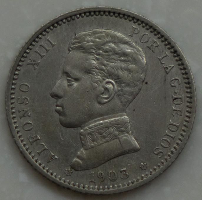 1 peseta 1903. Alfonso XIII Dsc03710