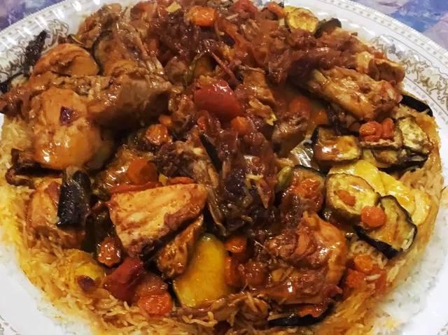 اكلة رمضانية مقلوبة دجاج 116