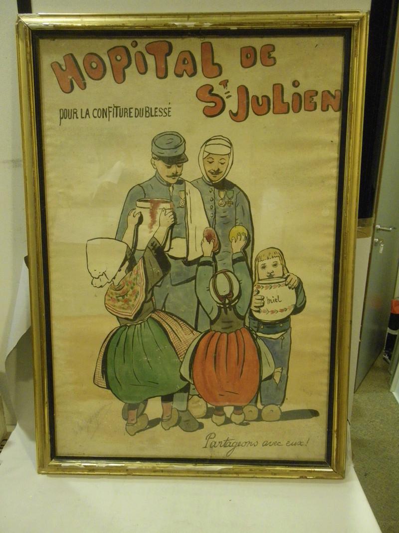 Affiche WW1 inconnue hôpital Saint de Julien 02612