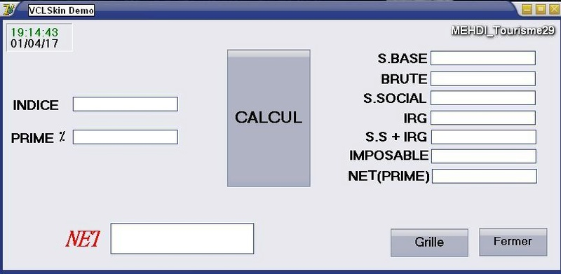 برنامج حساب منحة المردودية  ...     ....PRIME DE RENDEMENT Prime10