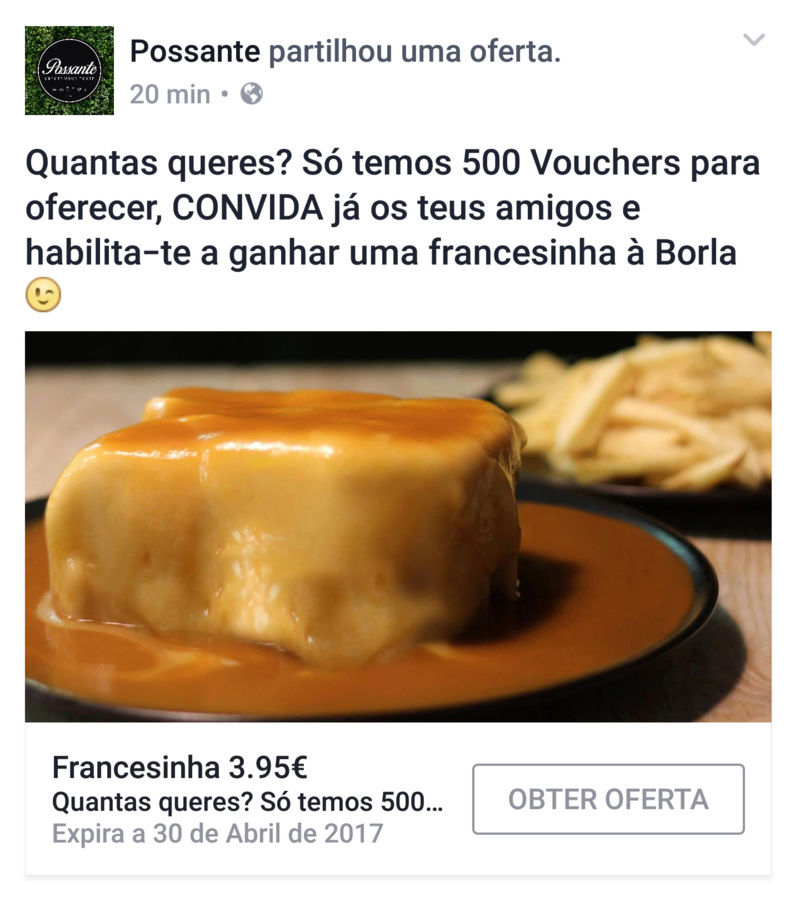 Amostras Possante- FRANCESINHA 3,95€ - Voucher Screen10