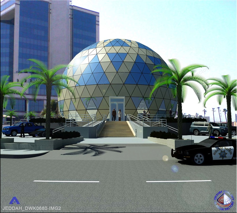 dividing a sphere into equal triangular shapes Jeddah11