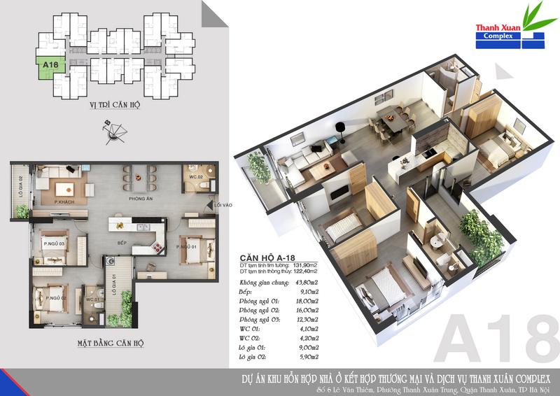 Nhận gói nội thất cao cấp,mua Thanh Xuân Complex Tx513