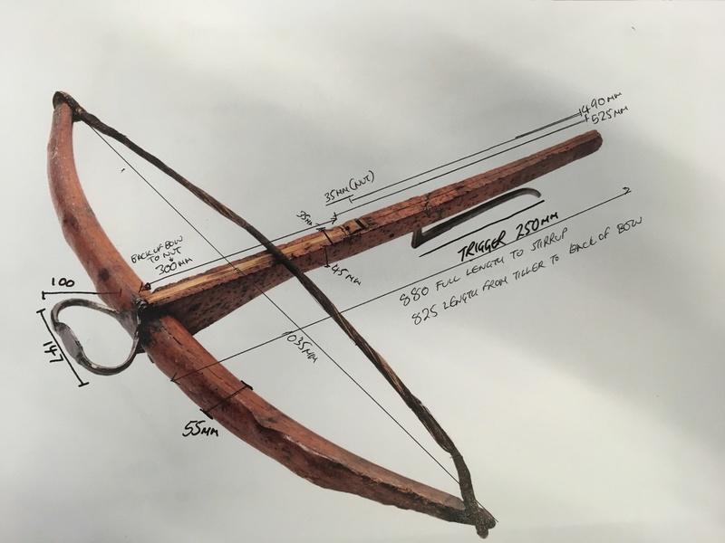 Berkhamsted Castle and Glasgow Museum wooden prod crossbow Fullsi10