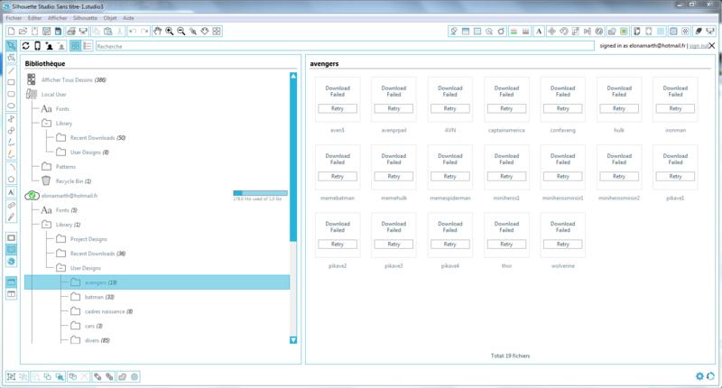 Probleme concernant le cloud Screen11