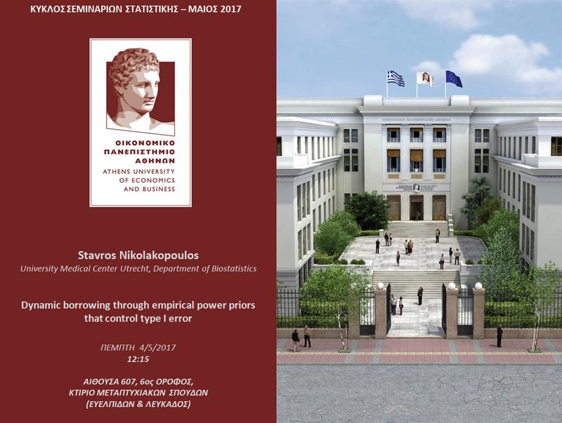 AUEB STATS SEMINARS 4/5/2017: Dynamic borrowing through empirical power priors that control type I error Nikola10