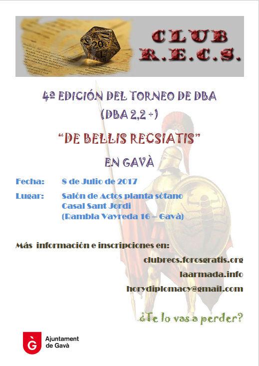 IV Torneo de DBA 'De Bellis Recsiatis' (sábado 8 de julio 2017) Cartel11