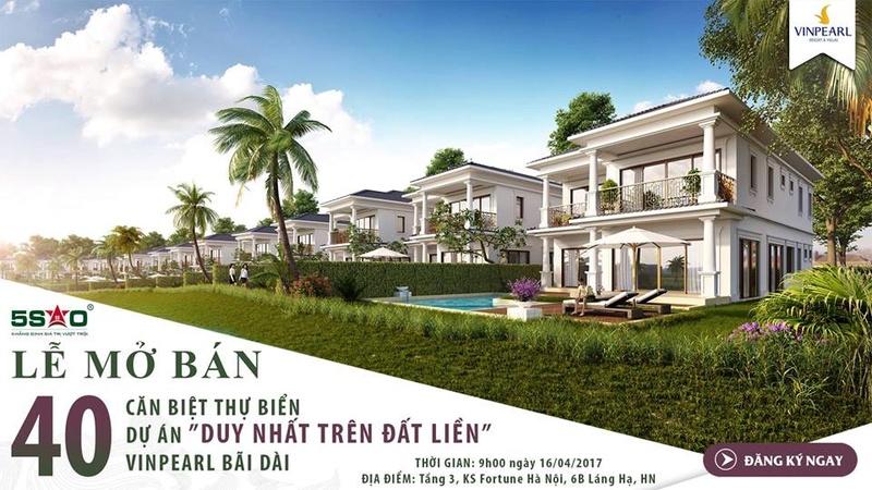 Mở bán 40 căn biệt thự Vinpearl Bãi Dài Cam Kết 100%/10 năm. Quà tặng siêu HOT 17499110