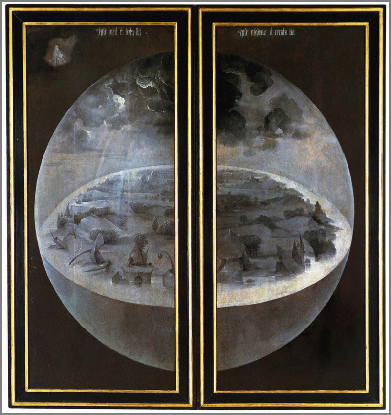 Hieronymus Bosch (15th century painter) flat earth painting Tumblr10