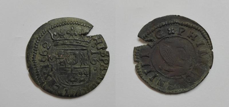 16 maravedis 1662 felipe IV     ¿MR? 16_mar11