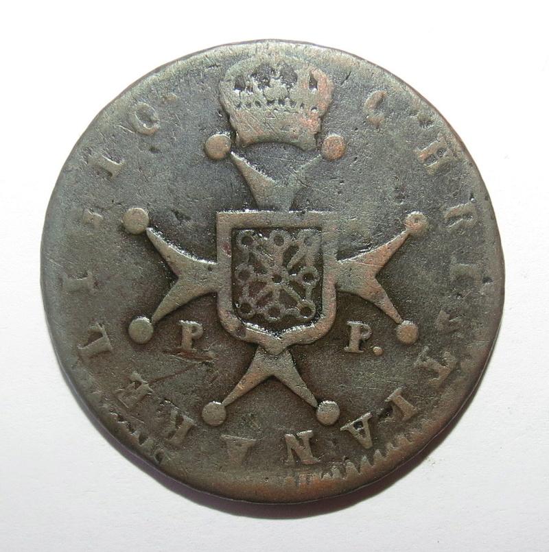 6 Maravedis 1820. Fernando VII. Pamplona S-l16013